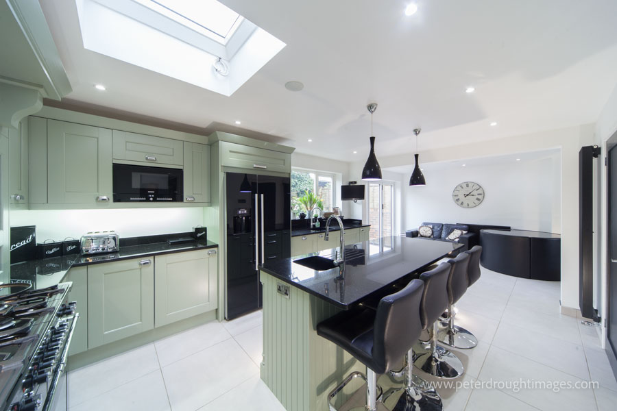 An example of property photography in use. Estate agent photography of a modern kitchen interior.