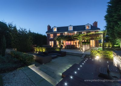 Prestige property with garden lighting.