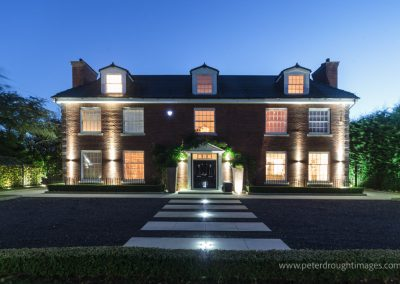 A prestige property with extensive feature lighting.