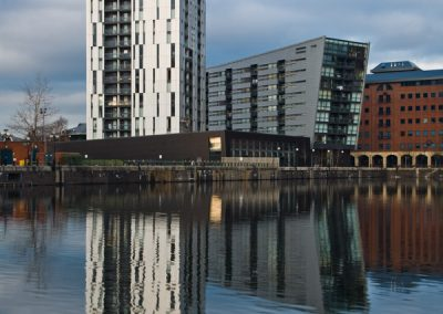 Millennium Tower and Millennium Point, Salford Quays.