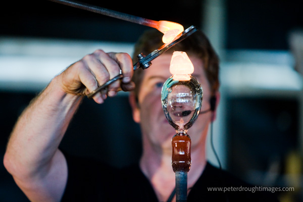 A glass worker. PR Photography showing a local event.